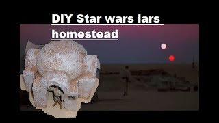 DIY diorama Star wars Lars homestead EASY