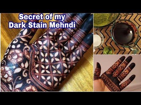 Learn How To Make Henna Stain Darker | Secret Of Dark Stain Mehndi |Home Remedies For Darker Mehndi