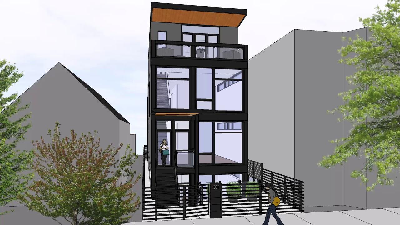 831 North Fairfield Condo Development - Exterior