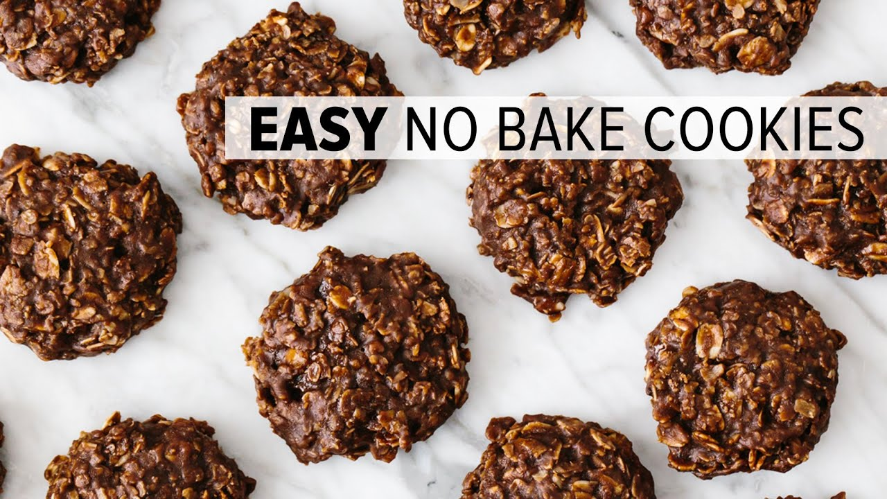 NO BAKE COOKIES | easy chocolate oatmeal cookie recipe