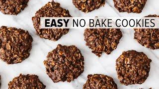 NO BAKE COOKIES  easy chocolate oatmeal cookie recipe