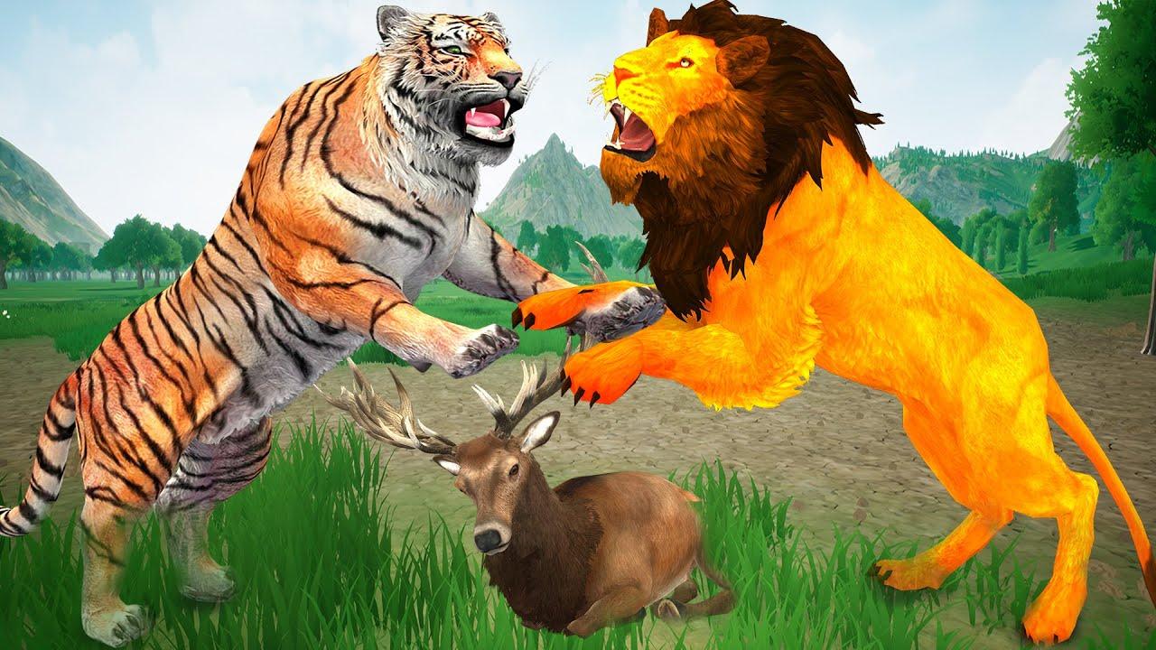 Download Tiger Vs Lion Fight Epic Battle Lion Fight Tiger Attacks on Deer Animal Revolt EpicBattleCompilation