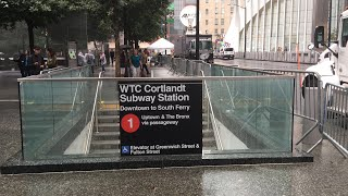 ᴴᴰ A Tour Of The Newly Renovated Cortlandt Street-World Trade Center (1) Train Station