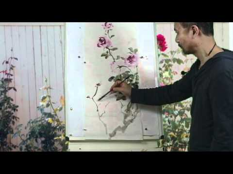 Capture the spirit of autumn roses a chinese watercolor for Video tutorial on watercolor painting