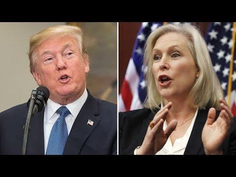 Trump & NY Senator Kirsten Gillibrand Go To War On Twitter