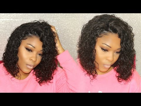 Anybody Can Wear This Curly Lace Frontal Bob Wig | Rihanna Inspired | OmgQueen