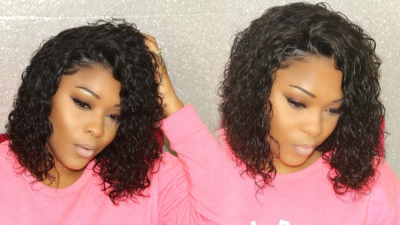 Anybody Can Wear This Curly Lace Frontal Bob Wig | Rihanna Inspired ...