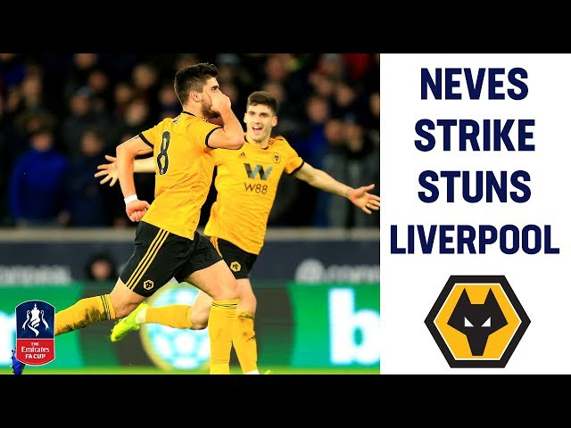 STUNNING Neves Strike Cancels Out Origi's Equaliser | Wolves 2-1 Liverpool | Emirates FA Cup 2018/19