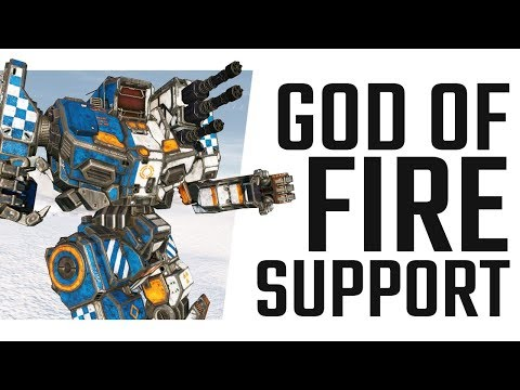 Triple RAC2 DPS Fire Support is insane! Mechwarrior Online The Daily Dose #