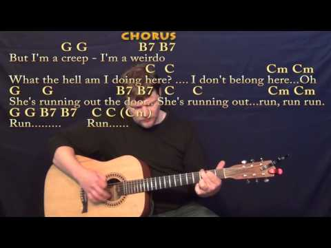 Creep (Radiohead) Strum Guitar Cover Lesson With Chords/Lyrics