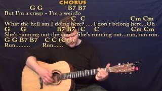 Creep (Radiohead) Strum Guitar Cover Lesson with Chords/Lyrics