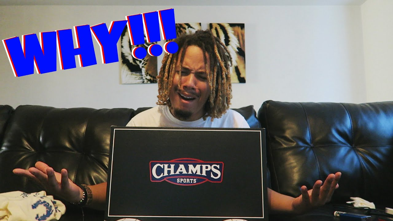 5c5514be42d98 WHY CHAMPS  ! !  NOT AGAIN !!! UNBOXING FROM CHAMPS SPORTS !! - YouTube