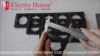 Обзор рамок для розеток серии Enzo Совершенный графит ElectroHouse