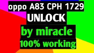 How To Unlock Oppo A83 Pattern,Pin,Frp New Sequrity 2019