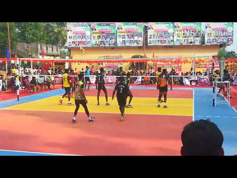 Postal karnataka V/S Anup D Costa - volleyball match at Perdoor, UDUPI
