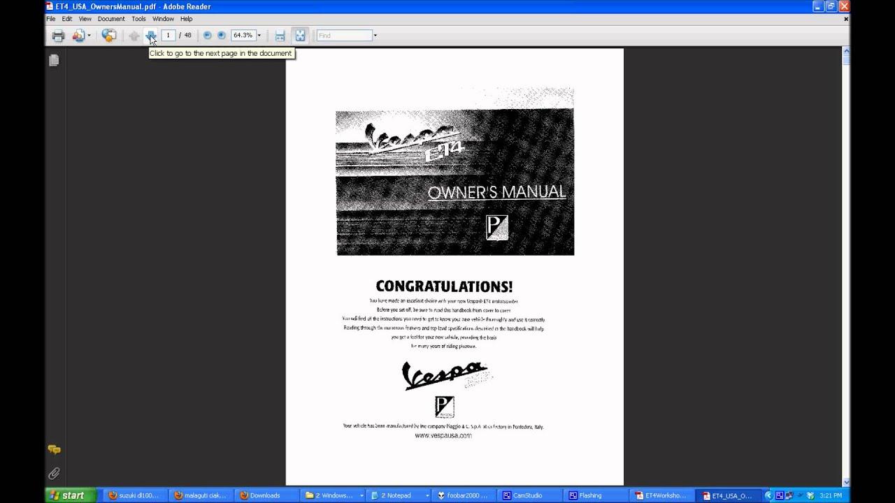 vespa et2 50 service manual