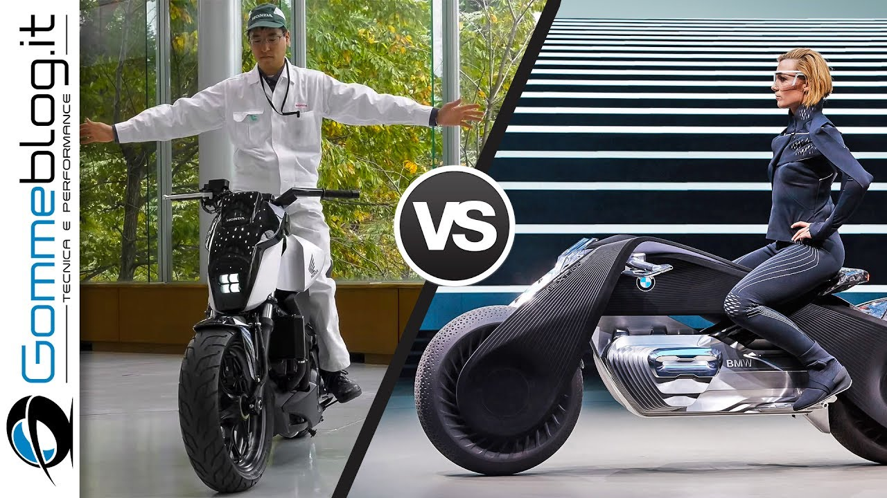 bike of the future: self balancing honda vs bmw motorrad vision