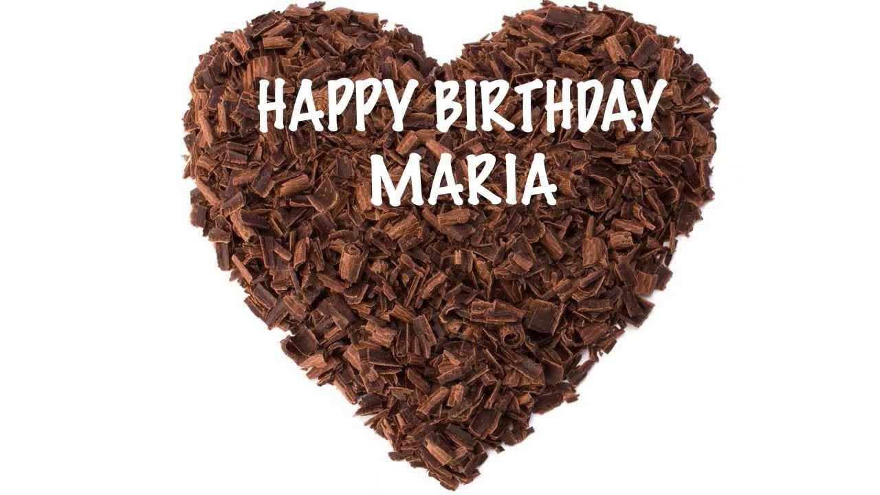 Maria Chocolate Happy Birthday Youtube