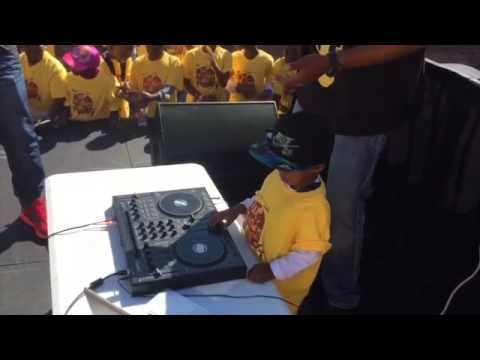 DJ Arch Jnr Playing for Children's Rights (2yrs)