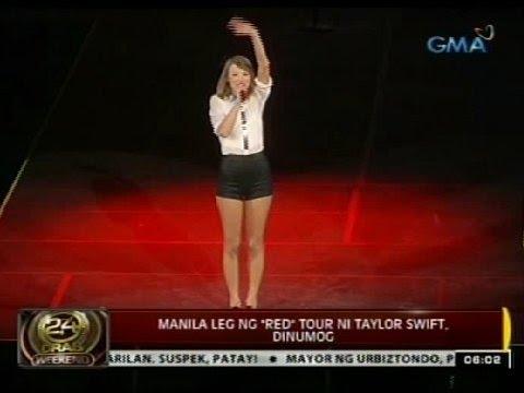 """24 Oras: Manila leg ng """"red"""" tour ni Taylor Swift , dinumog"""