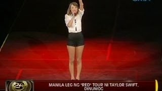 "24 Oras: Manila leg ng ""red"" tour ni Taylor Swift , dinumog"
