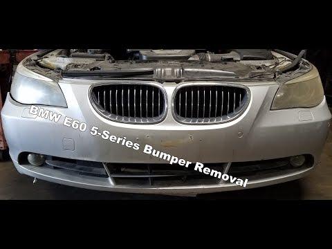 front bumper cover removal 2004 07 bmw e60 550i 545i 530i 525i youtube