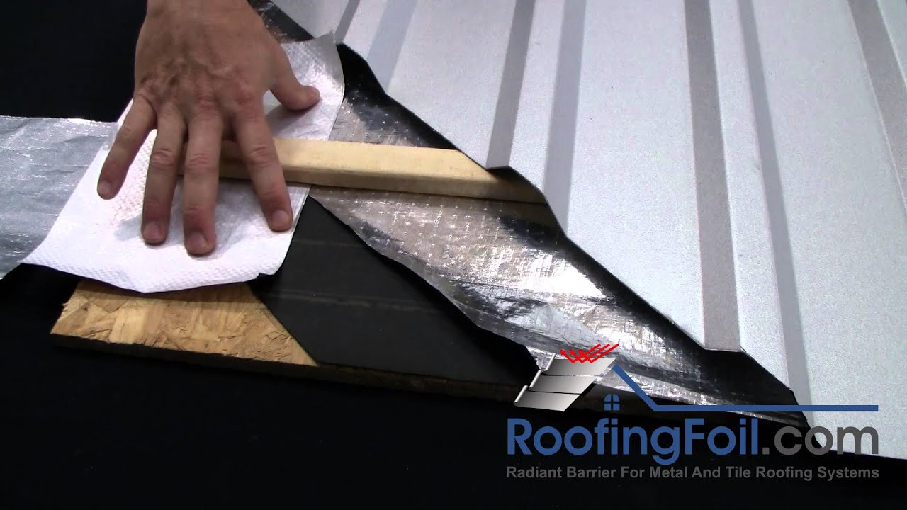 Roofingfoil Single Vs Double Sided For Metal Tile Roofing Systems Youtube