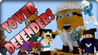 ŞİRİNLER VE MİNYONLAR - Tower Defenders - Minecraft Kule Savaşları