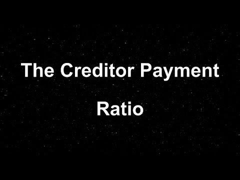 Creditor Days: How to Calculate your Creditor Payment Ratio