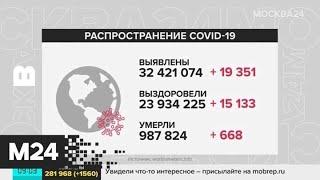 В мире выявлены уже более 32,1 миллиона случаев COVID-19 - Москва 24