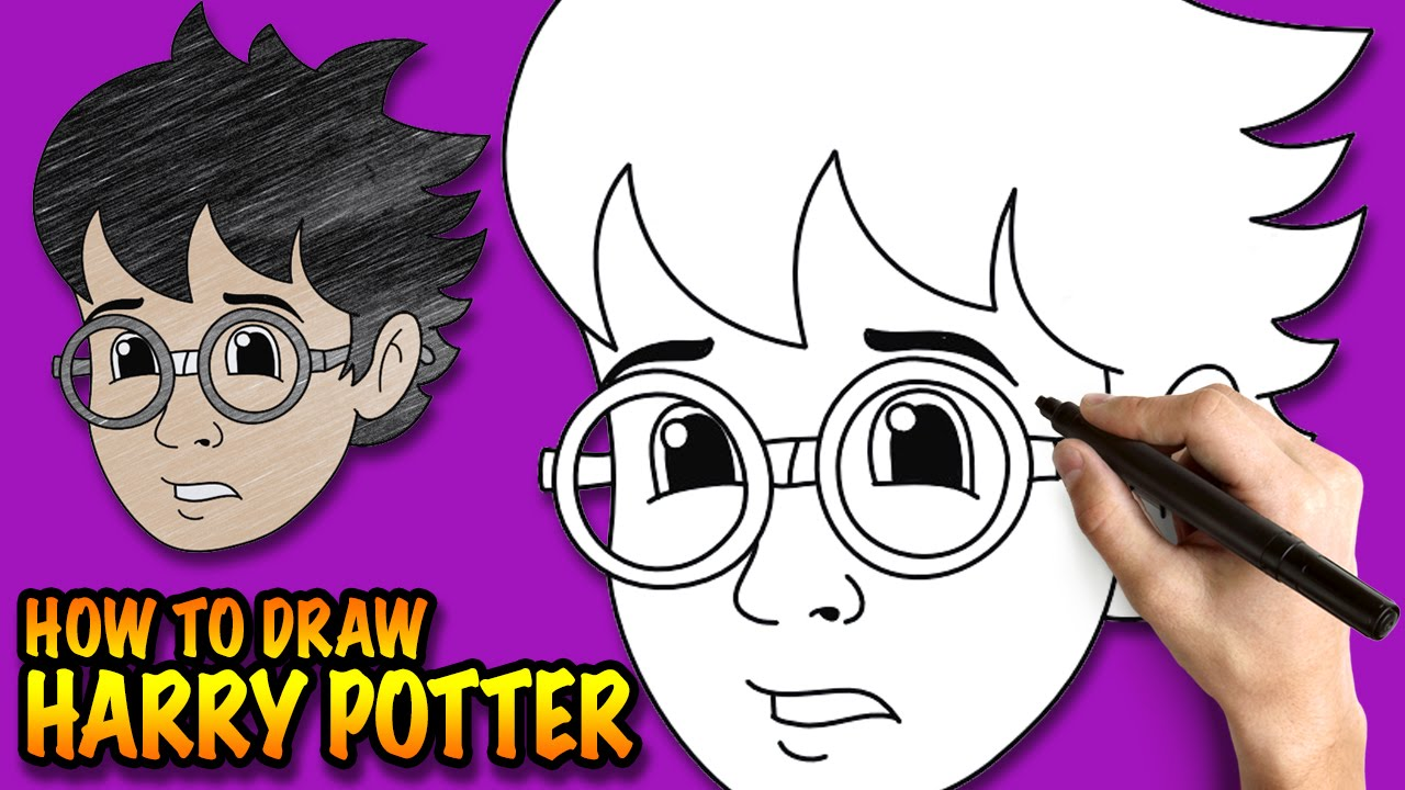 How To Draw Harry Potter Easy Step By Step Drawing Lessons For