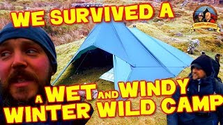 WE SURVIVED a WET and WINDY WINTER WILD CAMP  Dartmoor Wild camping