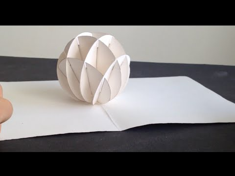 How To Make 3d Christmas Snow Ball Pop Up Card Kirigami