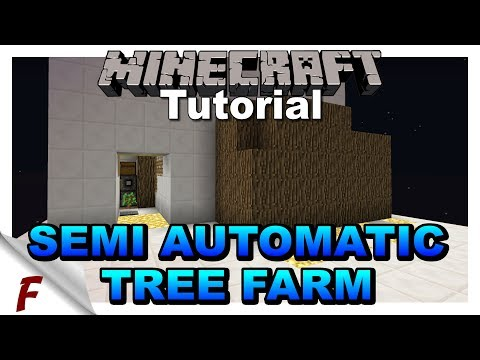 ✅ Minecraft Semi Automatic Oak Tree / Wood Farm Tutorial 1.12.2