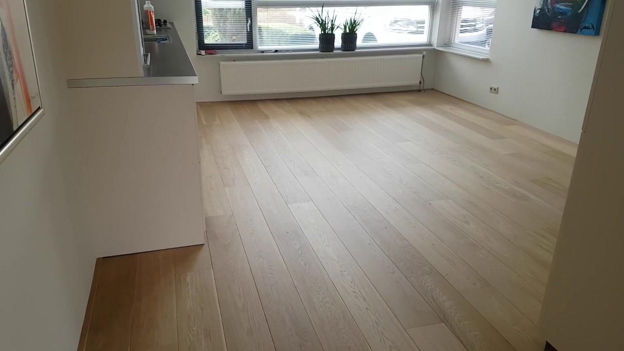 Eiken houten vloer lichter maken - YouTube