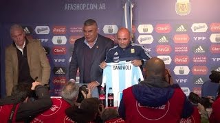 Video: Sampaoli cumple sueño de dirigir la Argentina de Messi