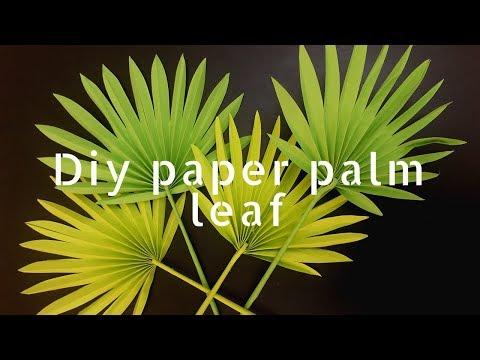 DIY paper palm leaf tutorial / DIY paper leaf / easy paper craft ideas / how to make paper leaves