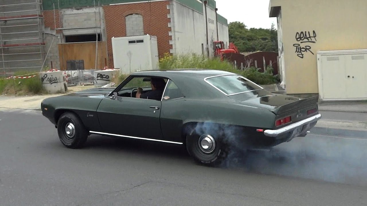1969 Chevrolet Camaro Zl1 Clone Burnout Amp Acceleration
