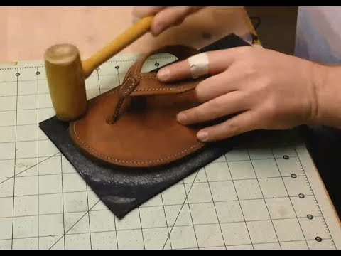 Let's Make Leather Flip Flops! Part 9 - Soles, Burnishing, Finishes (THE END!)
