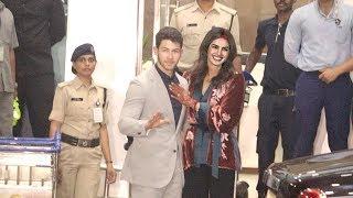 Happily Married Priyanka & Nick Arrive in Sindoor & Mehendi For Final WEDDING Reception In Mumbai