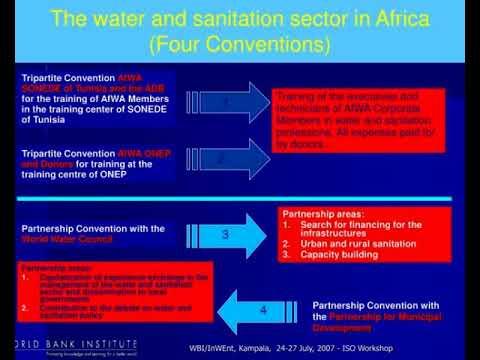 iso tc 224 workshop the african water asociation kampala uganda july 16 2007