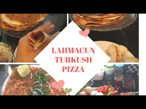 HOW TO MAKE LAHMACUN TURKISH PIZZA