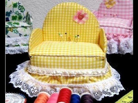C mo hacer un hermoso y til costurero con forma de sill n - Como tapizar un sillon ...