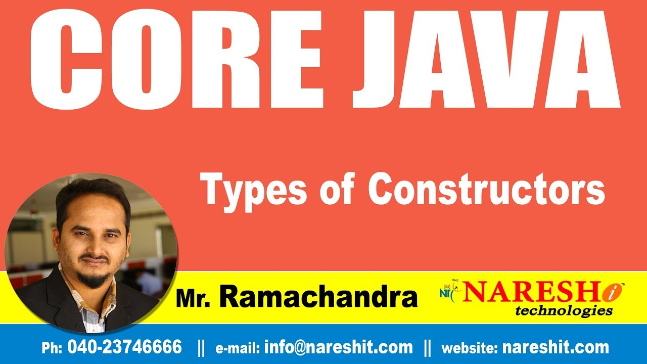 Types of Constructors | Core Java Tutorial | Mr  Ramachandra