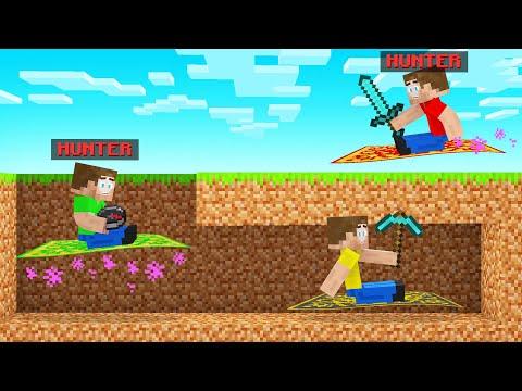 FLYING CARPET HUNTERS VS SPEEDRUNNER In Minecraft!