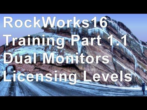 (OBS 9) RockWorks16 Training 1.1 - Dual Monitors & License Levels