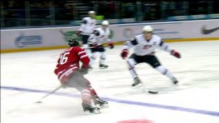 WJC - Jake McCabe hit to the head penalty on Ouellet. Dec 30th 2012