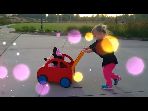 Playground Fun With Disney Junior Minnie Mouse Kids Toy Doll | Little Girl Playing | Fun Kids Video