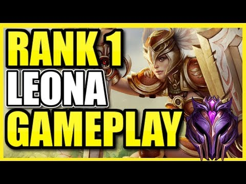 RANK 1 LEONA GAMEPLAY IN HIGH ELO! Best Leona Support Build, Strats, and More!