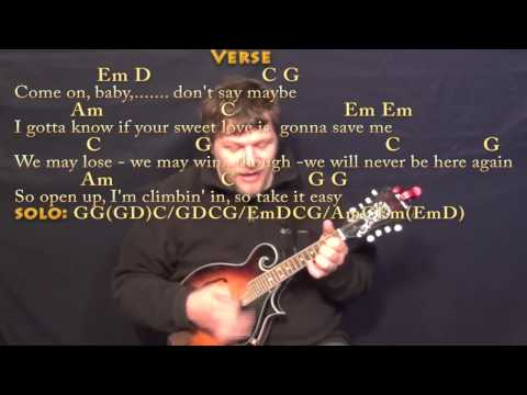 Mandolin mandolin chords and lyrics : Take It Easy (Eagles) Mandolin Cover Lesson with Chords/Lyrics ...